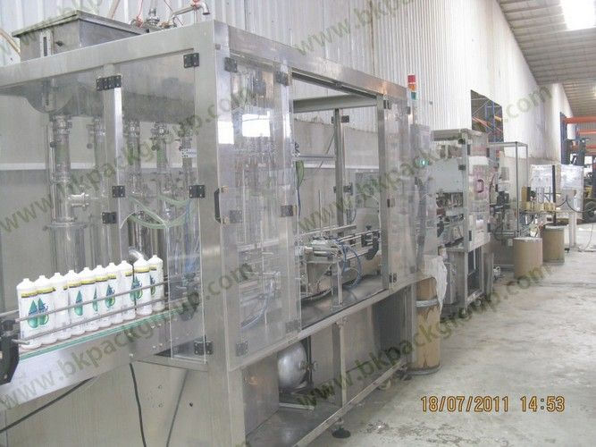Auto detergent filling capping line