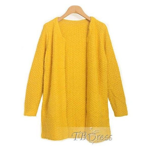 Cool Round Neckline Long Sleeves Knit Simple Long Sweater (24 CAD ...