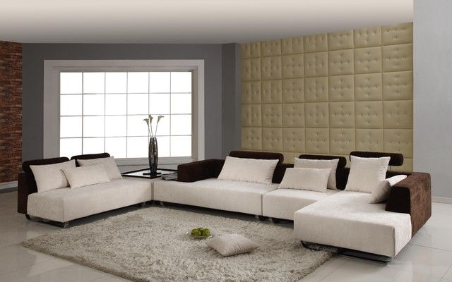 Attractive Modern Sectional Sofas Microfiber