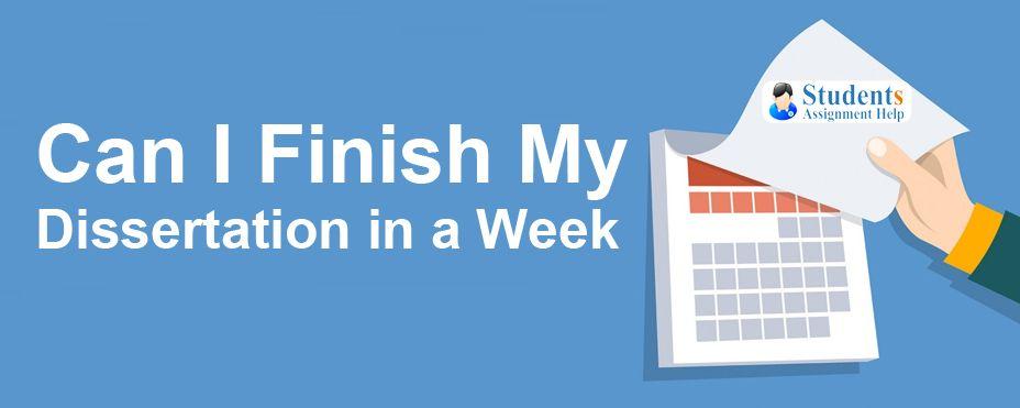 Complete dissertation week