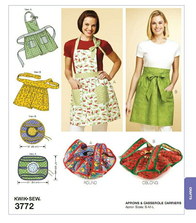 Kwik Sew K3772 aprons and casserole carriers | APRONS | Pinterest ...