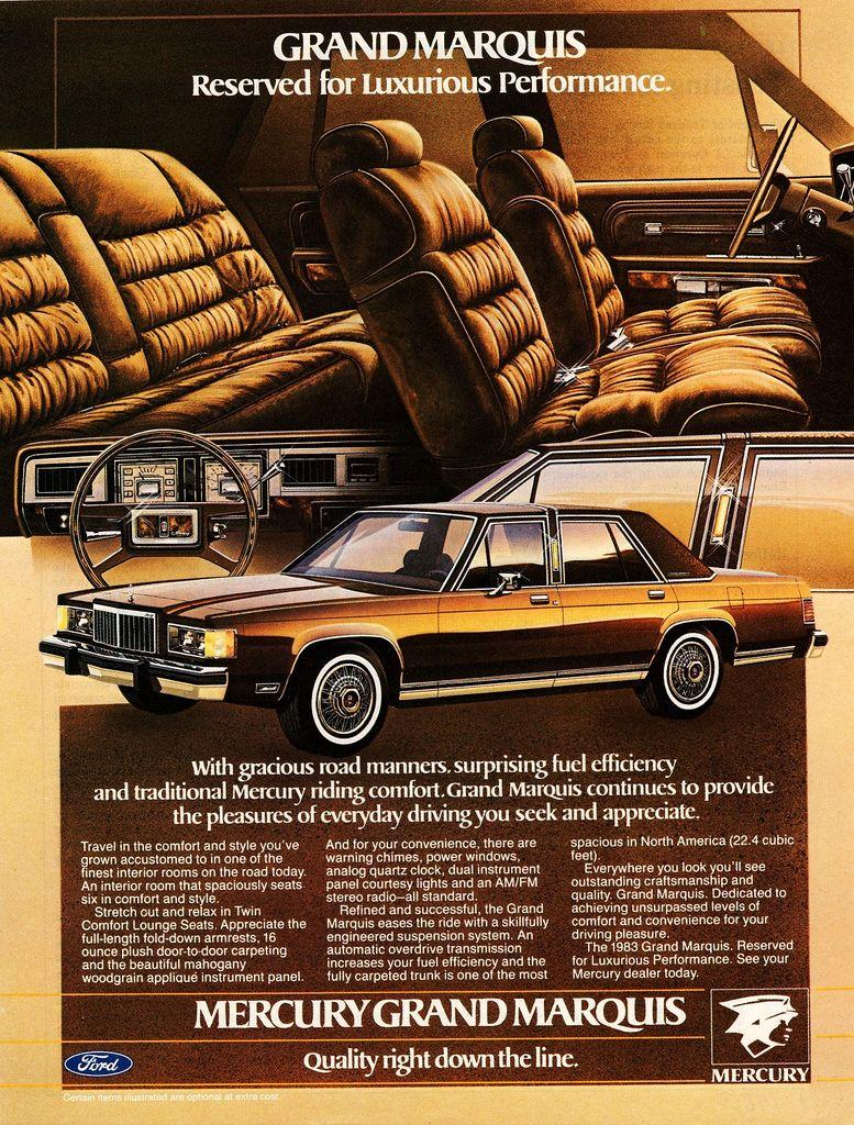 1983 Mercury Grand Marquis Ad (Canada) | Flickr - Photo Sharing!