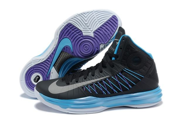 742c813f642 Nike Lunar Hyperdunk X 2012 LeBron James Black Sky Blue Purple Basketball  shoes