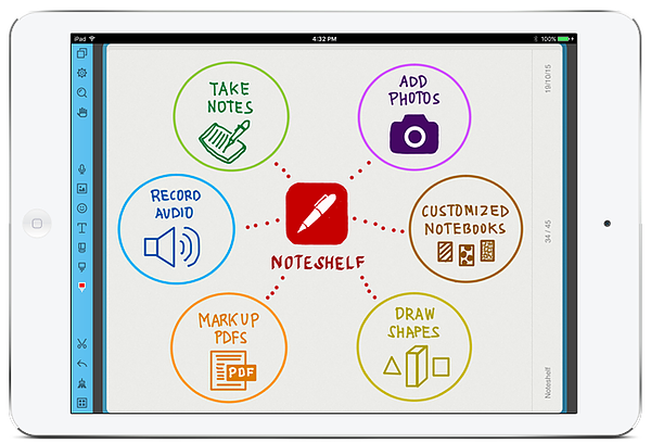Noteshelf is a note taking app that lets you take notes