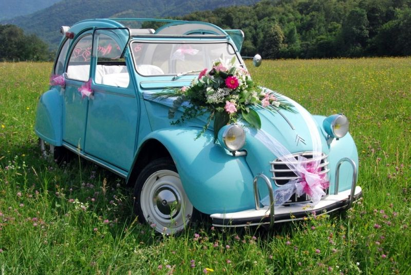 mariage on pinterest - Location 2cv Mariage
