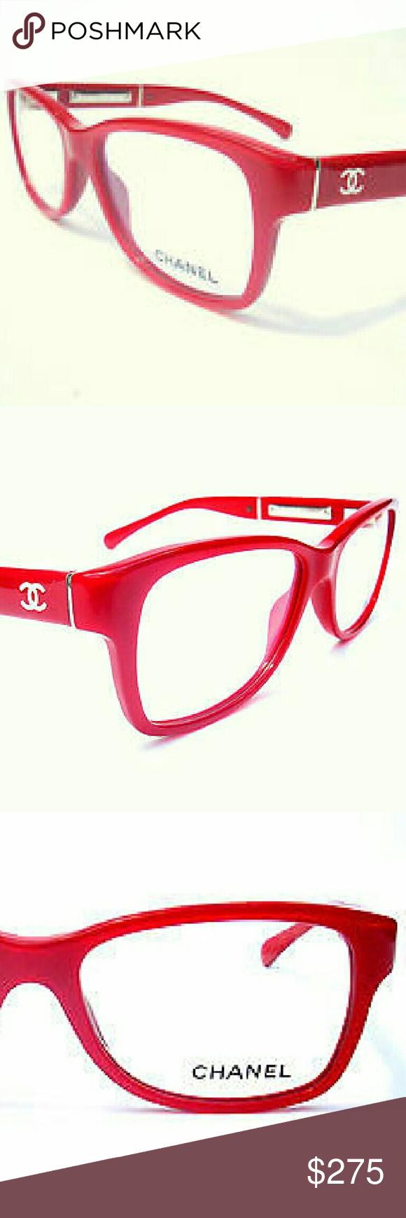 fe99e48c788 Chanel Eyeglasses New and authentic Chanel Eyeglasses Beautiful red frame  Includes original case only Chanel Accessories Glasses