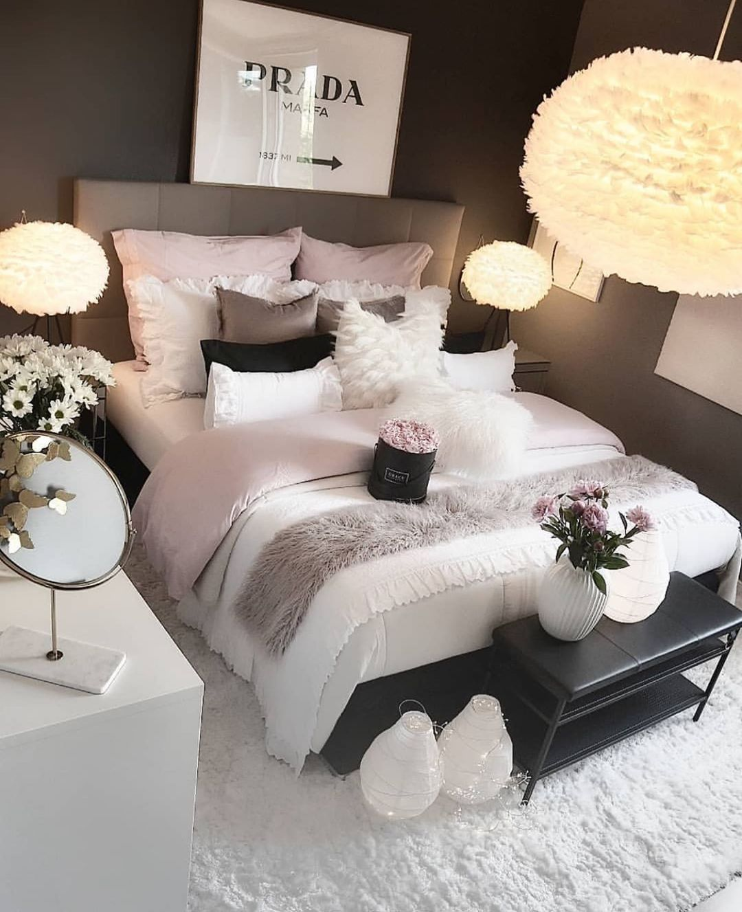 "Photo of Room For Girl Interior Inspo on Instagram: ""Bedroom goals ?? Double tap if you agree! ? Credit: @zeynepshome _____________________________________ #roomforgirl #bedroomideas…"""