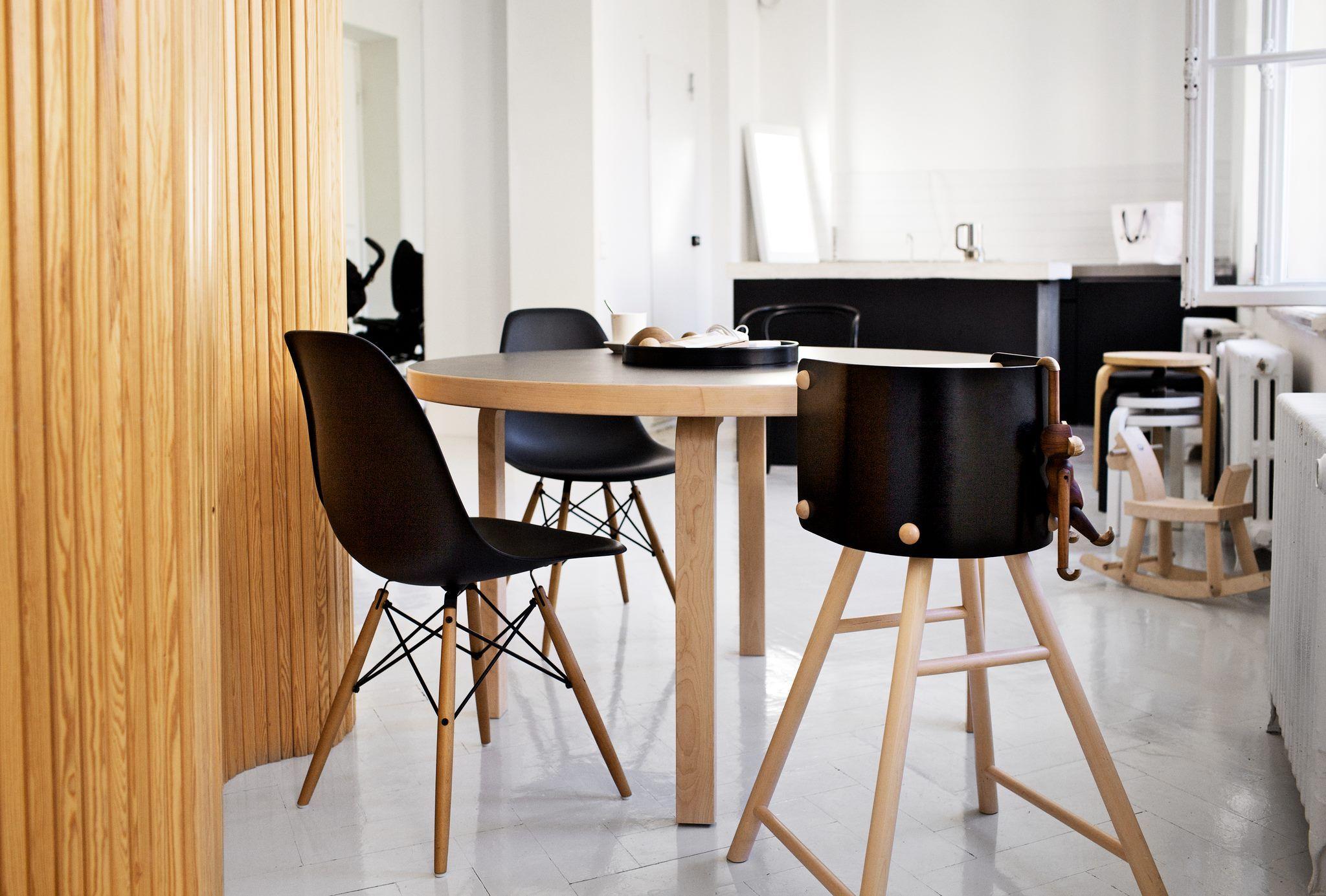 Artek Table Vitra Eames Plastic Side Chair DSW
