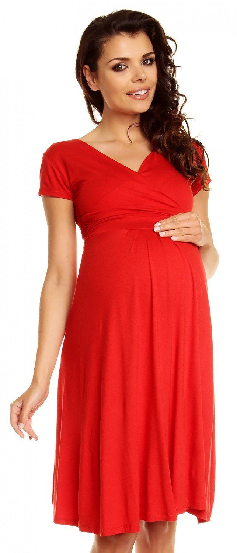 300da13285058 Zeta Ville - Women's Maternity Wrap V-neck Summer Dress - Short Sleeves -  108c at Amazon Women's Clothing store: