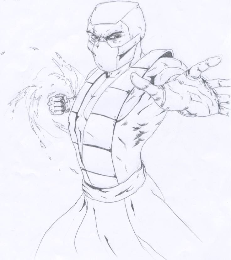 Mortal Kombat Drawings - Bing images | Coloring pages for Adults ...