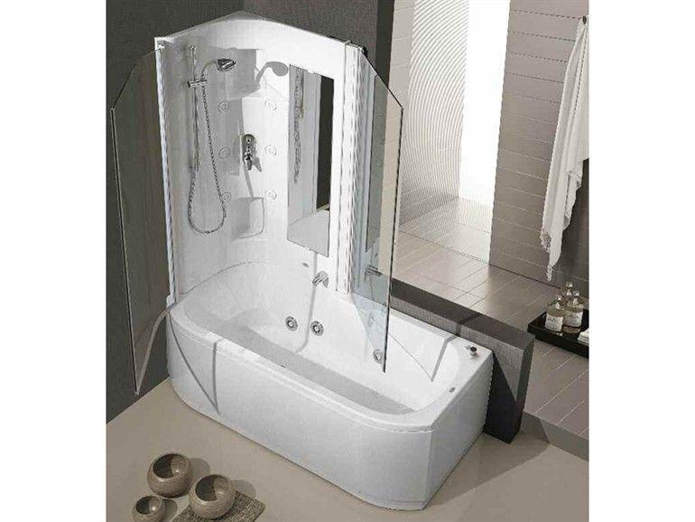 vasca da bagno idromassaggio con doccia duo box hafro
