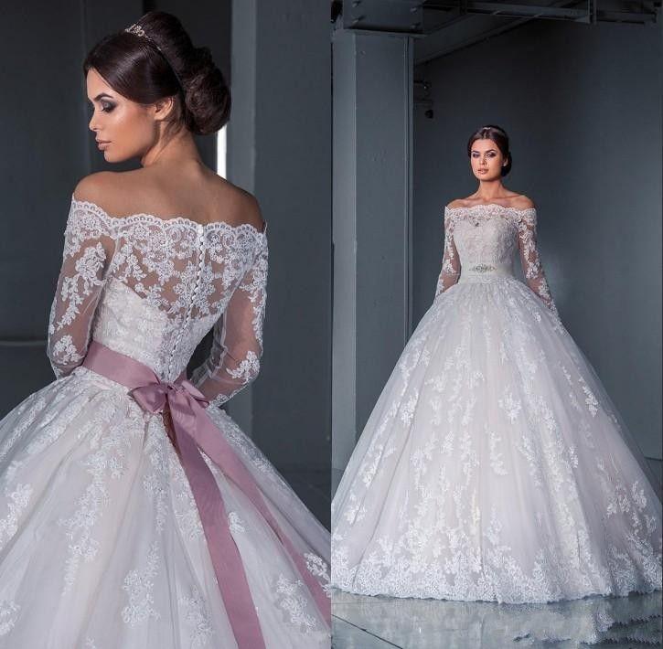 Günstige Luxuriöse Ballkleid Spitze Brautkleider 2015 neue der ...