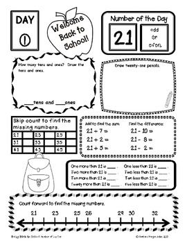 Morning Work Place Value Worksheets Second Grade Math