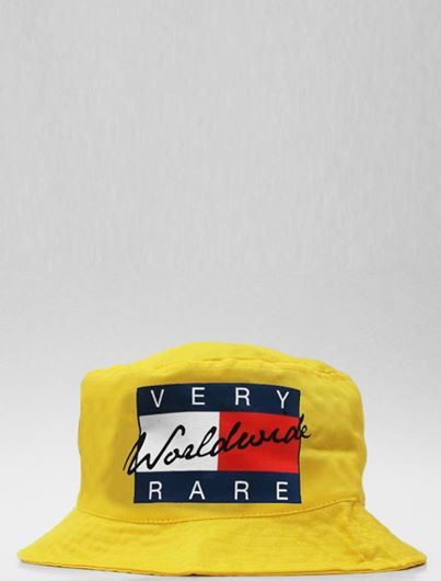 81174c1ef55 Very Rare Tommy Hilfiger Supreme Worldwide Yellow Bucket Hat Medium   TommyHilfiger  Bucket