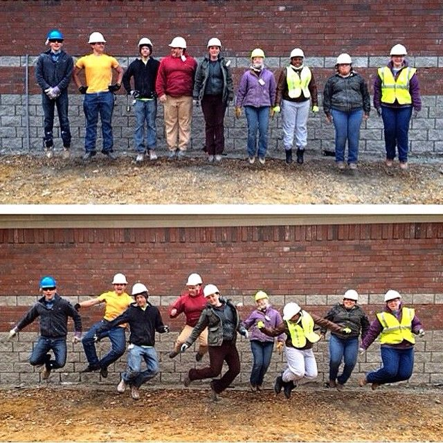 The RBC scaffolding crew in Evansville, Indiana on the Evansville project. Thanks for sharing! :)