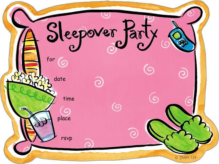 cool slumber party invitations shop for other zoomerang products rh pinterest com clipart sleepover party free clipart sleepover party