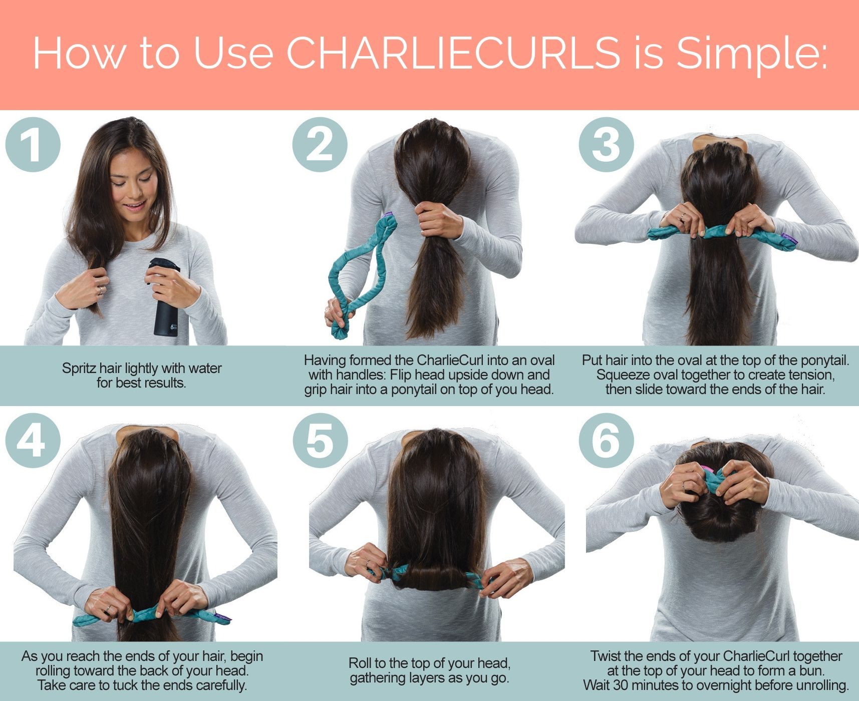 Pin On Diy Hairstyles Charliecurls Heatless Curler