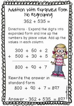 Addition Strategies Worksheets - 10 Digit Addition Expanded ...