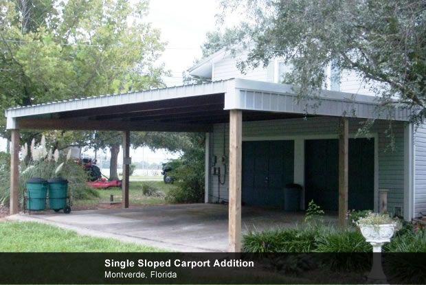 Slope Roof Carport Timbercraft Pavilions And Vehicle Ports
