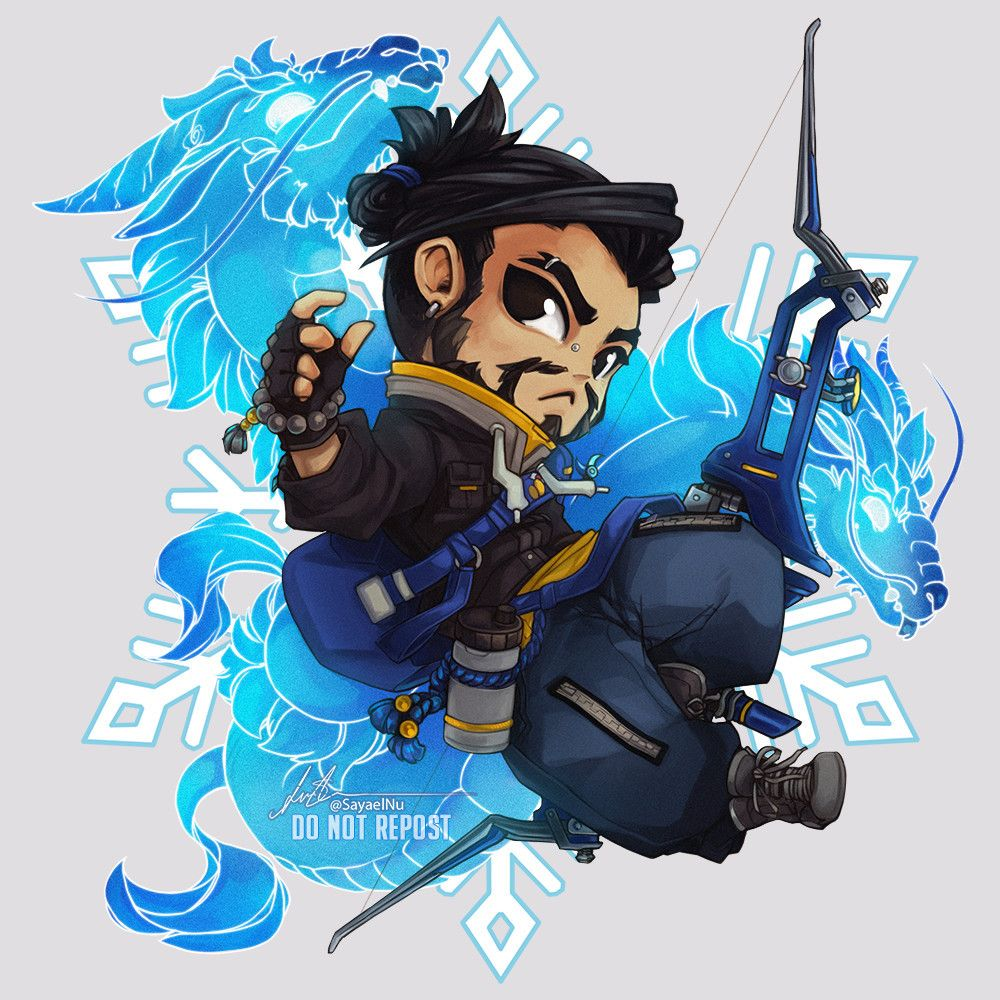 Hanzo Wallpaper: Sayaelnu: €�A Casual Hanzo Chibi Because I Really Liked His