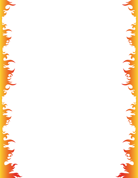 Fire Border Clip Art Page Border And Vector Graphics Borders And Frames Page Borders Clip Art Borders