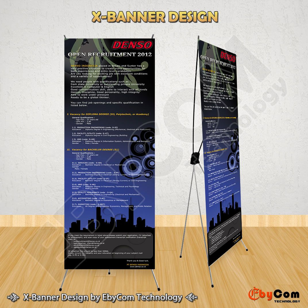 Desain XBanner Open Recruitment PT Denso Indonesia