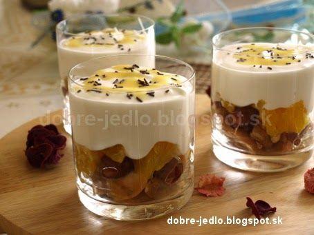 Tvarohový dezert s ovocím - recepty