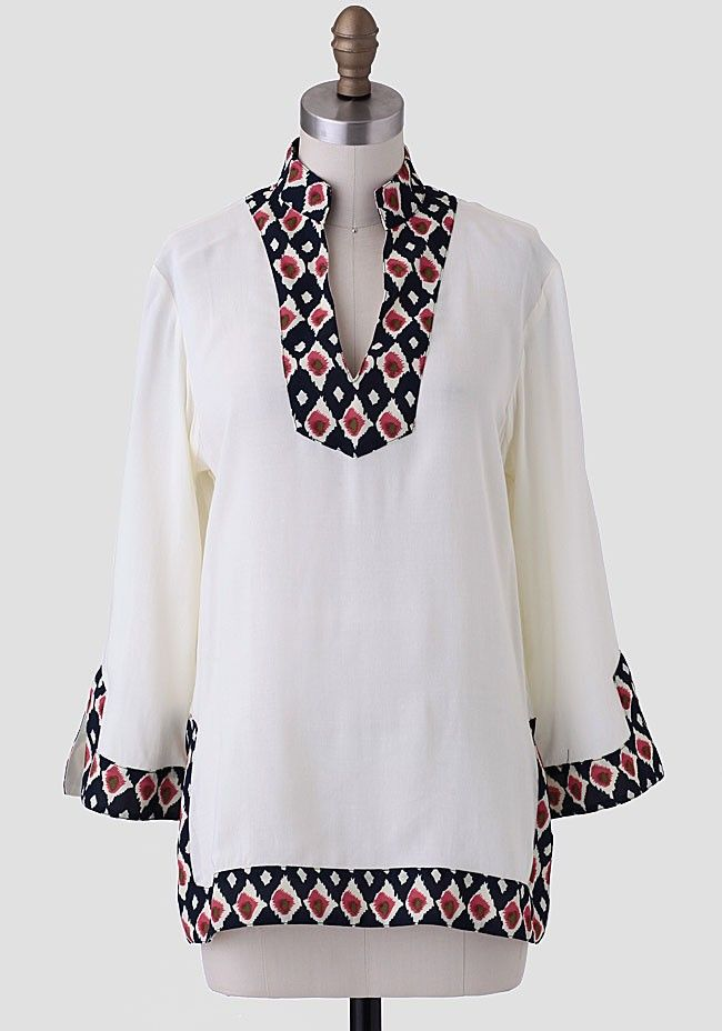 Tangier Trimmed Blouse