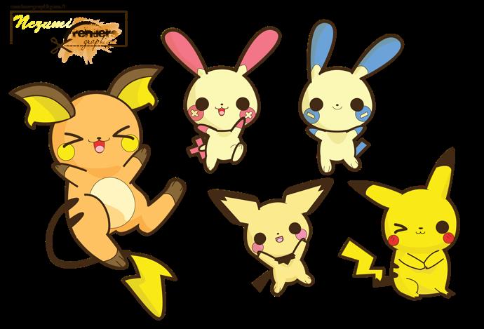 Render Pokemon Renders A Little Kitty Pokemon Electrique