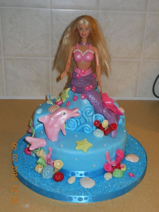 Barbie Mermaid Cake Images : Barbie cake on Pinterest Barbie Cake, Barbie and Mermaid ...