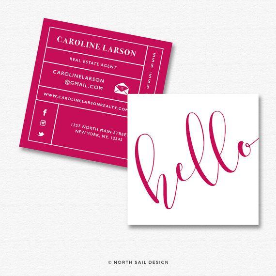 Premade Square Business Card Design Print Ready Gold Foil Square Business Card Temp Square Business Cards Design Custom Business Cards Business Card Design