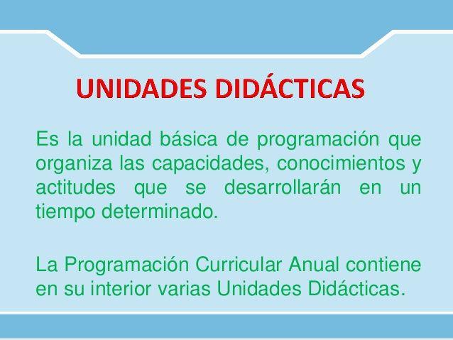 Unidades De Aprendizaje Proyectos De Aprendizaje Módulos De