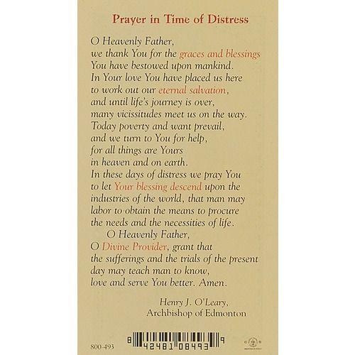 Prayer in Time of Distress - Prayer Card Prayer cards, Prayer - time card