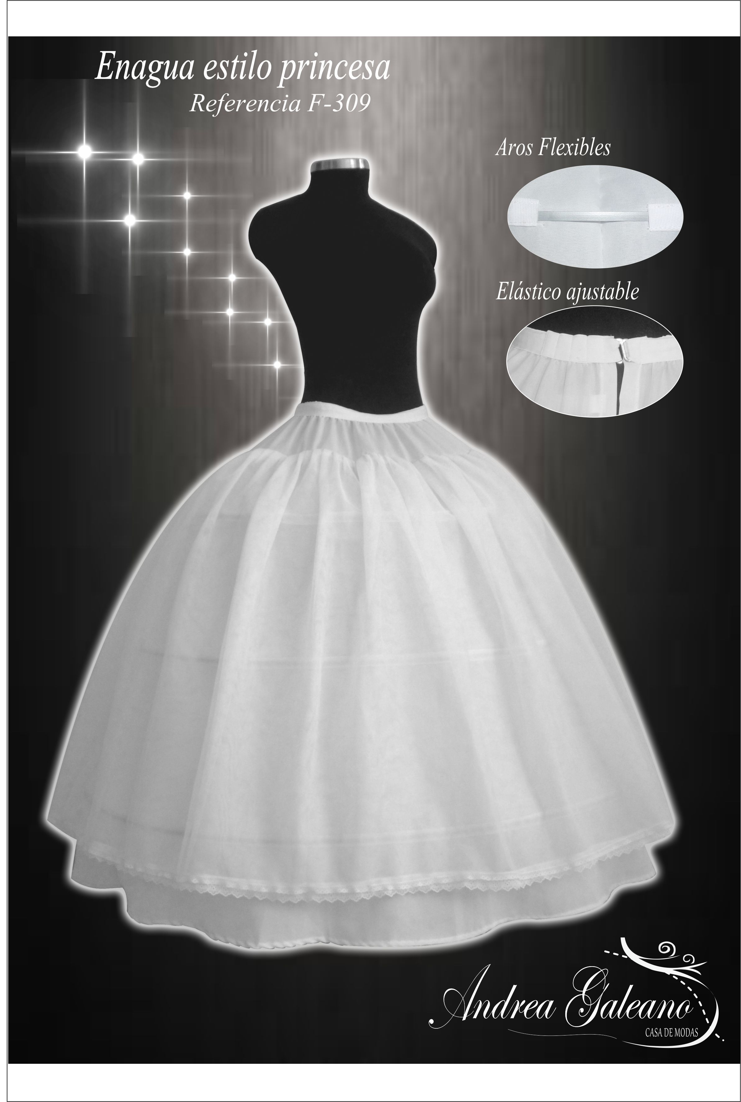 Enagua para vestidos de Fiesta estilo princesa | White | Pinterest