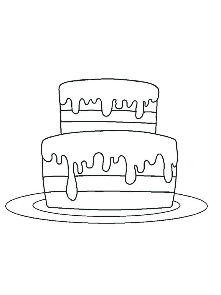 Birthday Cakes Colouring Pages Birthday Cake Is A Cake Given To Someone On His Birthday This Cake Is Usually Decorated With The Name Of The Person Who Has A B
