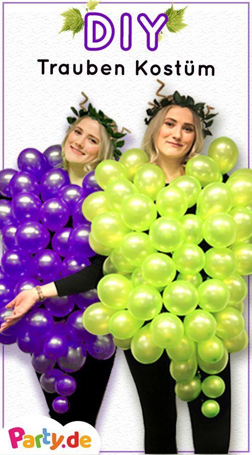 DIY: Kostüme aus Ballons - das Weintrauben Kostüm - Party.de