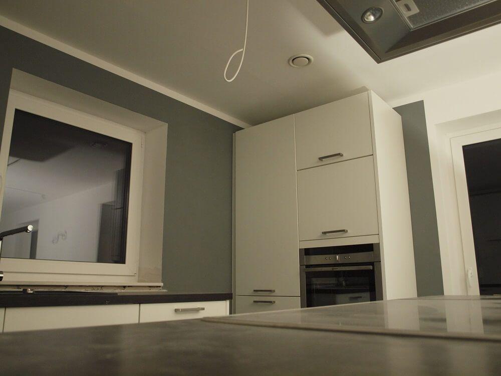 Neue Küche - Mit Frogtape abgeklebt und gestrichen Hausbau Blog - wohnzimmer grau gestrichen