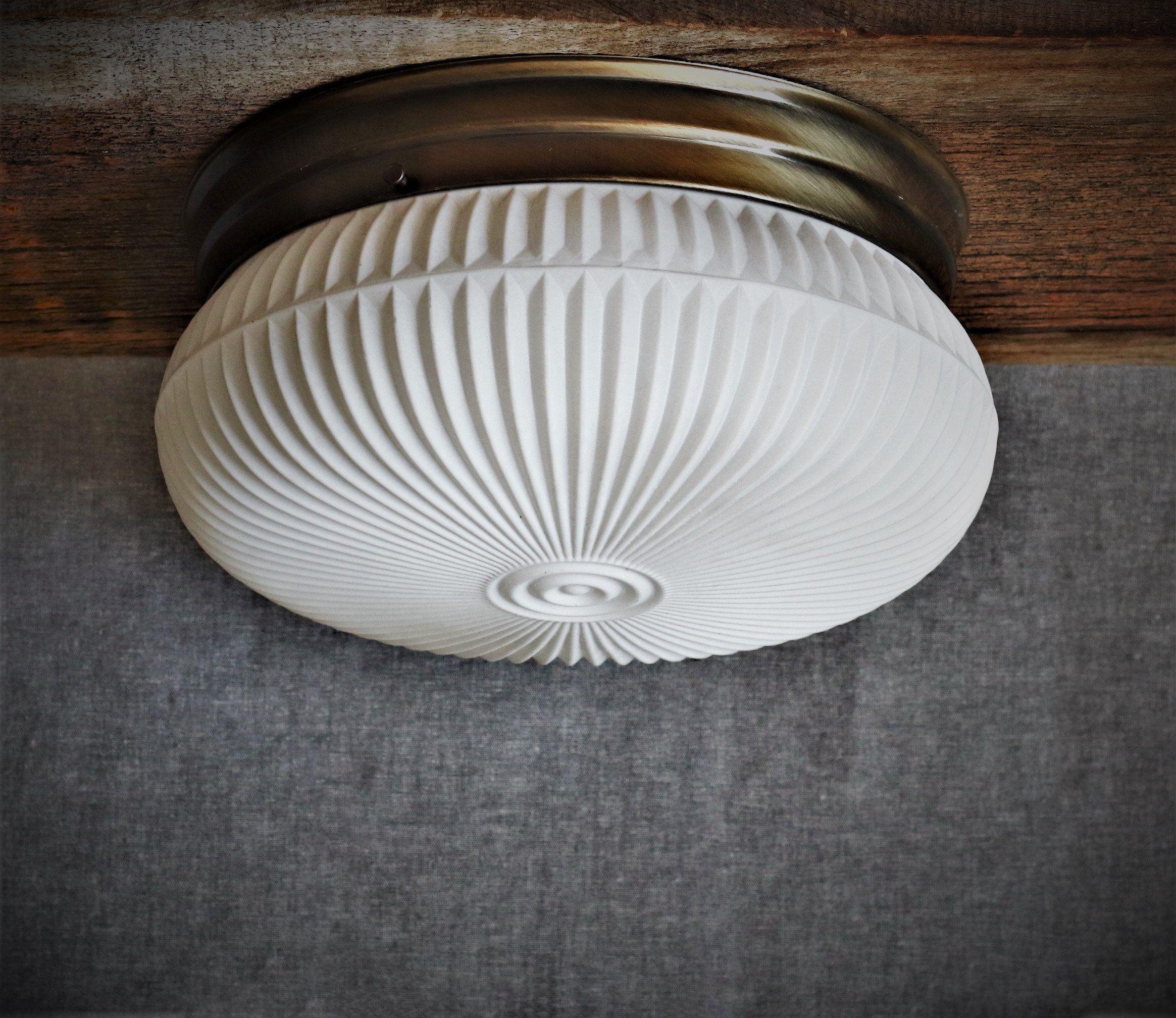 10 Flush Mount Ceiling Light Mid Century Modern Decor Vintage White Glass Drum Shade New F Flush Mount Ceiling Lights Custom Pendant Light Ceiling Lights