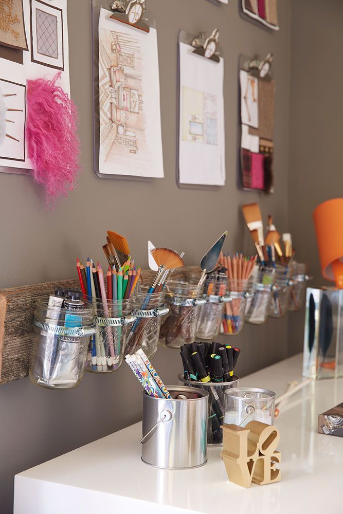 Love this idea for keeping art supplies organized.