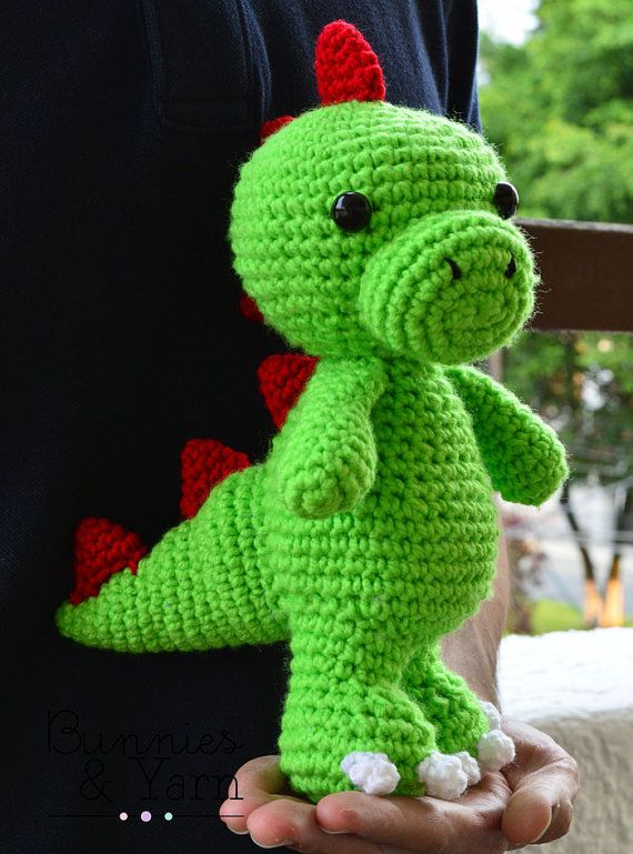 CROCHET PATTERN in English - Tim the Lovely Dinosaur - 9\