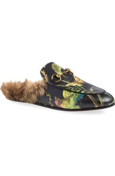 Gucci Princetown Genuine Kangaroo Fur Mule Loafer Women