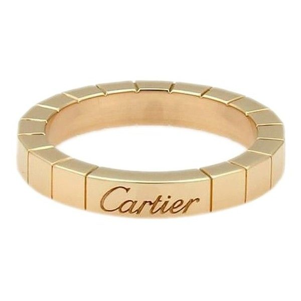 Pre-owned Cartier Lanier 18K Rose Gold Ring ($595) ❤ liked on Polyvore