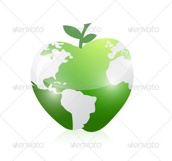 Realistic graphic download d httphardcast realistic graphic download d httphardcastpinterest itmid 1006573731iml green world map apple illustration design apple gumiabroncs Gallery
