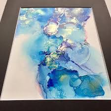 alcohol ink painting - Google Search #alcoholinkcrafts