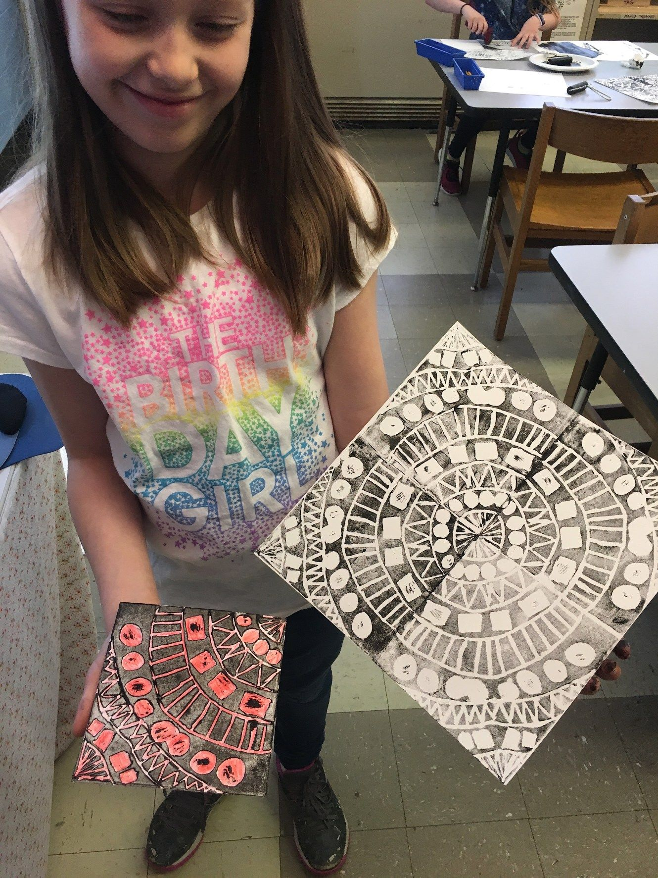 Radial Symmetry Printmaking 4th Grade