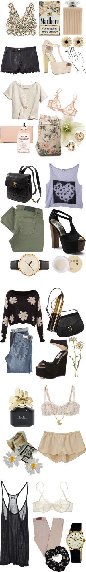 """Floral."" by cauchemar-exquis ❤ liked on Polyvore"