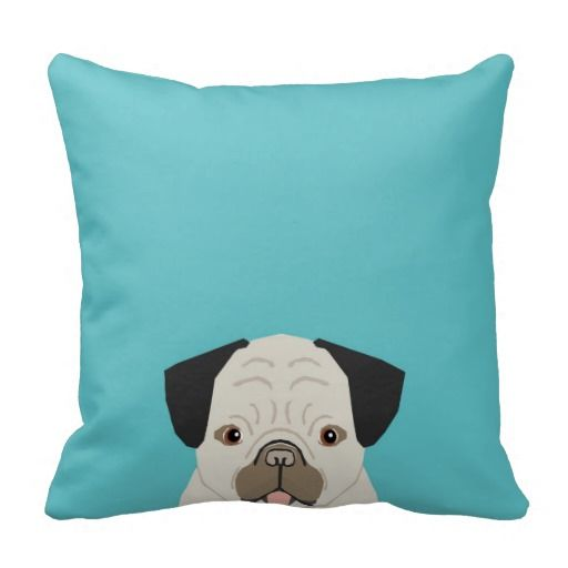 Pug throw pillow customizable pug gifts dog breeds