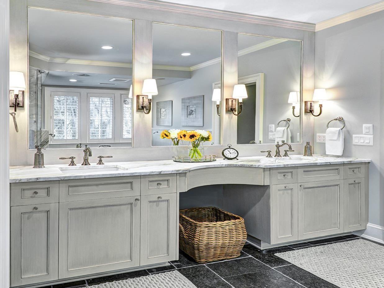 35 Stunning Bathroom Vanity Mirrors With Light Designs Ideas Traditional Bathroom Custom Bathroom Bathroom Mirror Lights