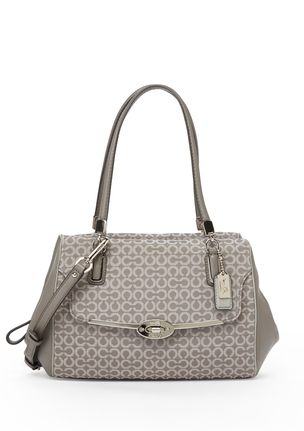 COACH Silver/Light Gray Madison Small Madeline East/West Satchel $ 278.00 $ 229.99