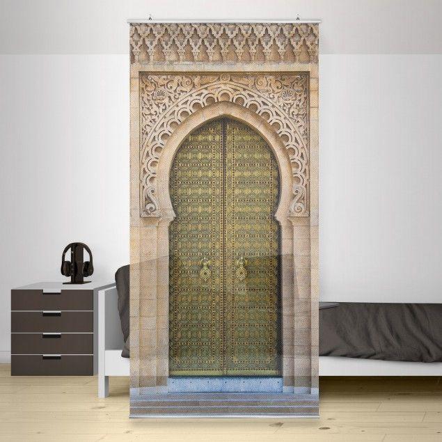 raumteiler oriental gate 250x120cm raumteiler vorhang schiebevorhang und oriental. Black Bedroom Furniture Sets. Home Design Ideas